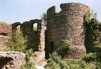 Ruiny zamku Cisy